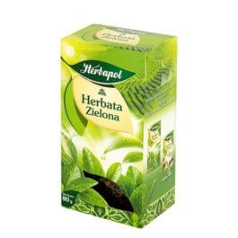 Herbata liściasta zielona 80g. Herbapol