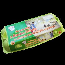 Jaja od kur z wolnego wybiegu L 10 sztuk AGIM Busko-Zdrój