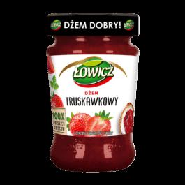 Dżem Łowicz niskosłodzony truskawkowy 280g Agros nova