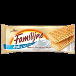 Wafle familijne o smaku śmietankowym 180g Jutrzenka