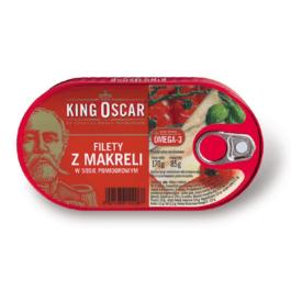 Filet z makreli w sosie pomidorowym 170g King Oskar