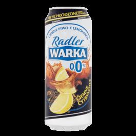 Piwo bezalkoholowe Warka radler 0% ciemne cytrynowe puszka 500ml Żywiec
