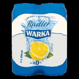 Piwo bezalkoholowe Warka radler 0% 4x500ml Żywiec
