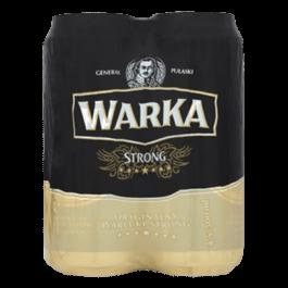 Piwo Warka strong 6,5% puszka 4x500ml Żywiec
