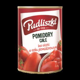 Pomidory całe bez skóry w soku pomidorowym pudliszki 400g Heinz