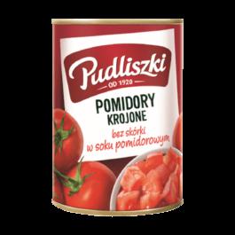 Pomidory krojone bez skóry w soku pomidorowym pudliszki 400g Heinz
