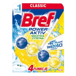 Kostka toaletowa Bref power active lemon 50g Henkel