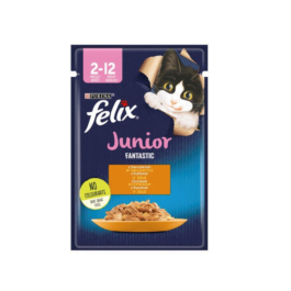 Karma dla kota Felix fantastic junior z kurczakiem w galaretce 85g Nestle Purina