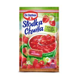Kisiel słodka chwila poziomkowy z kawałkami owoców 31,5g Dr Oetker