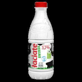 Mleko świeże łaciate 3,2% 1 litr butelka Mlekpol