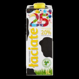 Mleko UHT łaciate 2% 1 litr Mlekpol