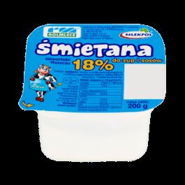 Śmietana do zup i sosów 18% 200g Rolmlecz