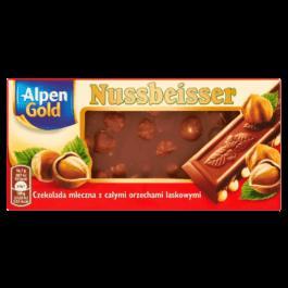 Czekolada Nussbeisser z orzechami 100g Alpen Gold