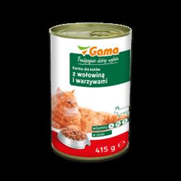 Karma dla kota z wołowiną i warzywami 415g MW Gama