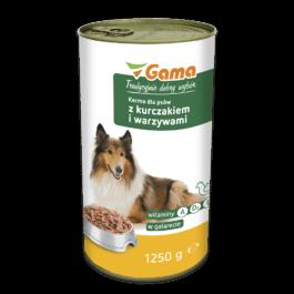 Karma dla psa z kurczakiem i warzywami 1250g MW Gama
