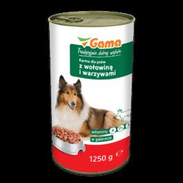Karma dla psa z wołowiną i warzywami 1250g MW Gama