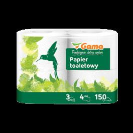 Papier toaletowy biały 3-warsw. 4szt MW Gama