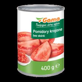Pomidory krojone bez skórki 400g MW Gama