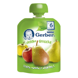 Deser gerber jabłko/gruszka 90g Nestle Nutrition