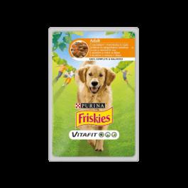 Karma dla psa Friskies adult z kurczakiem saszetka 100g Nestle Purina