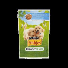 Karma dla psa Friskies junior z kurczakiem saszetka 100g Nestle Purina