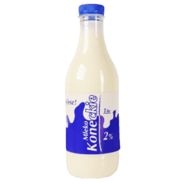 Mleko koneckie 2% 1 litr butelka OSM Końskie
