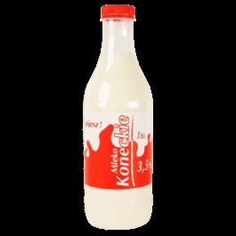 Mleko koneckie 3,5% 1 litr butelka OSM Końskie