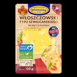 Ser włoszczowski typu szwajcarskiego plastry 150g OSM Włoszczowa