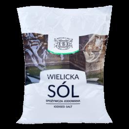Sól wielicka spożywcza jodowana 1kg ZPSS Produkt Sol