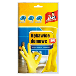 Rękawice domowe rozmiar M jan niezbędny 1 para Sarantis