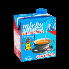 Mleko zagęszczone niesłodzone 7,5%tłuszczu 500g Gostyń