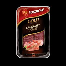 Kiełbasa krakowska sucha gold plast.100g Sokołów