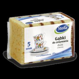 Gąbki do zmywania z miedzią duże 5szt Stella