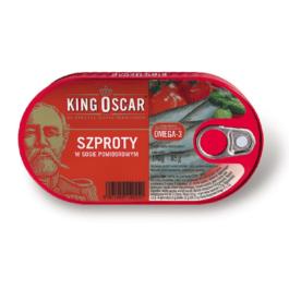 Szproty w sosie pomidorowym 170g King Oscar