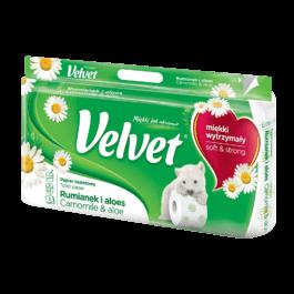 Papier toaletowy Velvet rumianek i aloes 8szt. Klucze