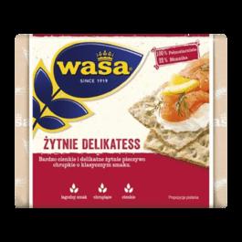 Pieczywo chrupkie żytnie delikatess 210g Wasa Barilla