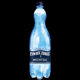 Woda mineralna gazowana mocny gaz 1,5l Żywiec Zdrój