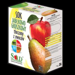 Sok naturalny jabłko/gruszka 3l Sad Sandomierski