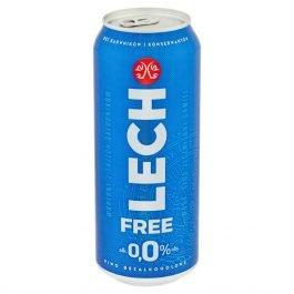 Piwo bezalkoholowe Lech free 0% puszka 500ml Kompania Piwowarska