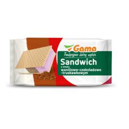 Lody kanapka waniliowo-truskawkowo-czekoladowe 180ml Marka Własna Gama