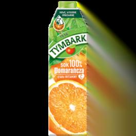 Sok pomarańczowy Tymbark 100% karton 1l Maspex