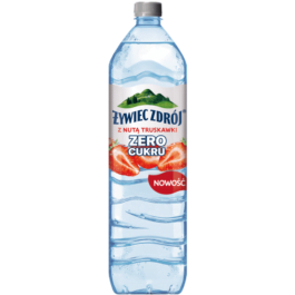 Napój niegazowany z nutą truskawki zero cukru 1,5l Żywiec Zdrój