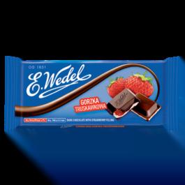 Czekolada Wedel gorzka z nadzieniem truskawkowym 100g Lotte