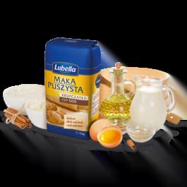 Mąka puszysta krupczatka typ 500 1kg Lubella