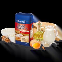 Mąka puszysta luksusowa typ 550 1kg Lubella