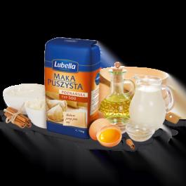 Mąka puszysta poznańska typ 500 1kg Lubella