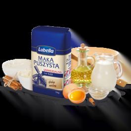 Mąka puszysta uniwersalna typ 520 1kg Lubella