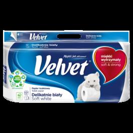 Papier toaletowy Velvet delikatnie biały 8szt. Klucze