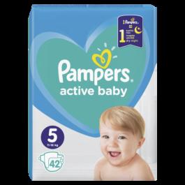 Pieluszki Pampers active baby junior rozmiar 5, 11-16kg 42szt. P&G