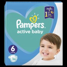 Pieluszki Pampers active baby extra large rozmiar 6, 13-18kg 36szt. P&G